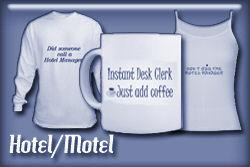 Hotel Motel Occupations T-shirts and Gifts
