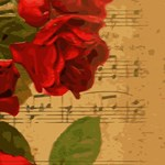Vintage Music Red Roses