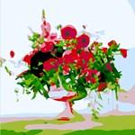 Watercolor Flowers in Vase