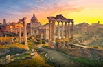 Rome Travel Forum Ruins Dome Sunset