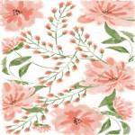 Cute Pink Watercolor Floral