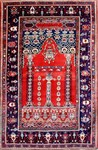 Red Blue Persian Rug