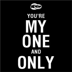 You're My One and Only Wedding Ring BLACK
