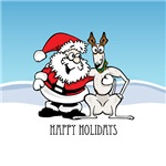 Santa & Greyhound