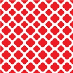 Red Quatrefoil Pattern