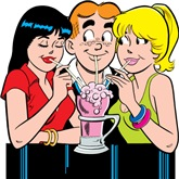 Archie, Betty and Veronica are drawn in their current day format with this officially licensed Archie Comics t-shirt and gifts for the Comic Book Geek.