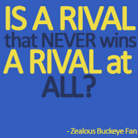 Is a rival that NEVER wins a rival at all? Michiga