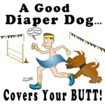 Diaper Dog Agility Cartoon