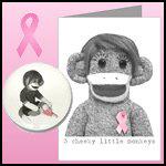 Sock Monkeys for Breast Cancer Awareness
