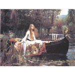 The Lady of Shallot - Waterhouse Painting