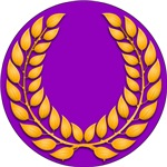 Purple with gold Laurel