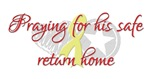 Praying for his safe return home