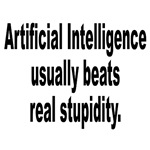 AI Beats Real Stupidity Humor