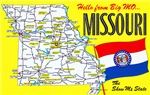 Missouri Map Greetings