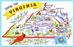 Virginia Map Greetings