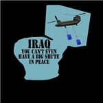 CHINOOK HELICOPTER IRAQ TOLIET HUMOR TEES
