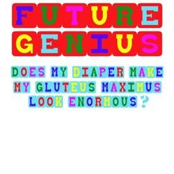 Funny Baby Shirts-Future Genius theme