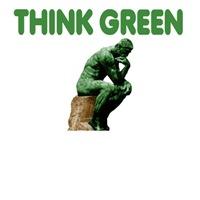 Think green shirts-Think green Tote Bags