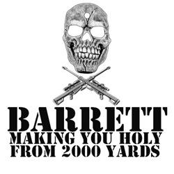 Sniper T with Barrett 50 cal army humor slogan