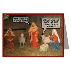 Funny Atheist Christmas cards-blasphemy theme