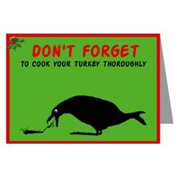 Funny image Christmas Turkey greeting cards