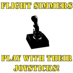 Flight Simmers Play W/Their Joysticks