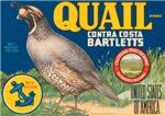 Quail Pear Fruit Crate Label