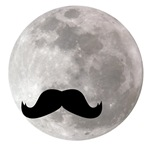 mustache in sky with moon