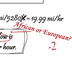 African or European?