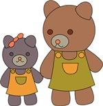 Teddy Bear Siblings
