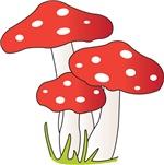 Polka Dot Mushrooms