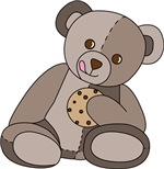 Teddy Bear and Cookie