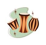 Retro Bongo Drums