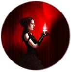 Goth girl with candle products