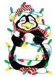 Light Up The Holidays Penguin Humor Christmas
