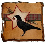 Primitive Folk Art Crow Christmas Theme