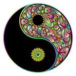 Yin Yang Symbol Psychedelic Colors