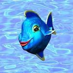 Cute Blue Fish Cartoon