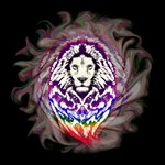 Lion Psychedelic Pop Art