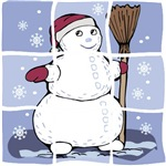 Snowman collage t-shirts & gifts