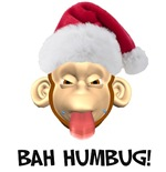 Bah Humbug Monkey t-shirts & gifts