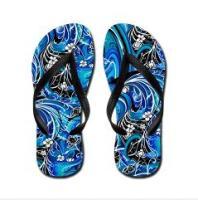 Colorful Art Print Flip Flop Sandals
