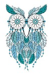 Blue dreamcatcher owl