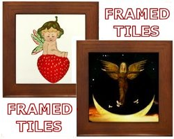 Framed Angel Tiles