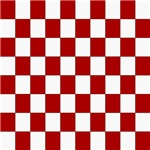Bold Red and White Checkerboard