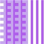 Purple and Lilac Combs Tooth