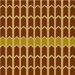 Golden Border Brown Fence Panel