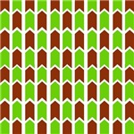 Burgundy and Green Checkered Fence Panel