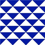 Royal Blue Triangles