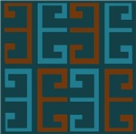 Cool Blues and Brown Tile
